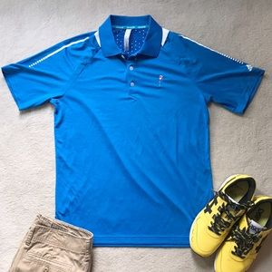 adidas Climachill Blue Friar's Head Golf Polo